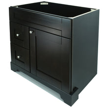 "Load image into Gallery viewer, 36"" Espresso Damian Vanity Base Only"