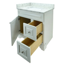"Load image into Gallery viewer, 36"" Antique White Damian Vanity with Milky Way Quartz"