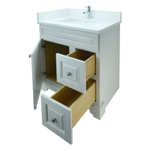 "Load image into Gallery viewer, 30"" Antique White Damian Vanity with Classique Calcutta Quartz"