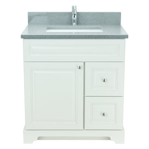 "36"" Antique White Damian Vanity with Crystal Grey Quartz"