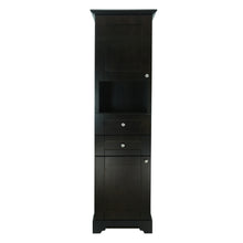 Load image into Gallery viewer, Espresso Damian Linen Cabinet