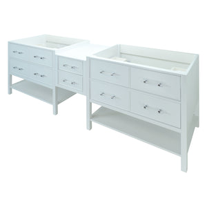 "86"" White Gemma Vanity Base Only"