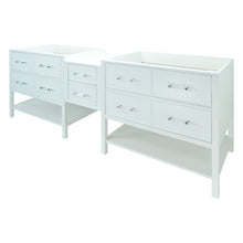 "Load image into Gallery viewer, 62"" White Gemma Vanity Base Only"