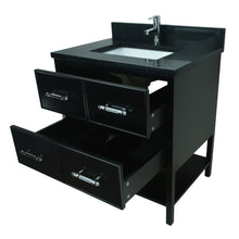 "Load image into Gallery viewer, 30"" Black Gemma Vanity with Moonlight Black Quartz"