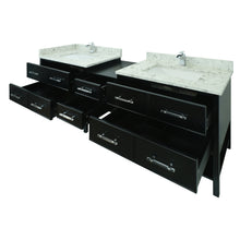 "Load image into Gallery viewer, 62"" Black Gemma Vanity with Milky Way Quartz"