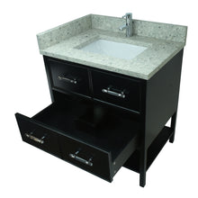 "Load image into Gallery viewer, 30"" Black Gemma Vanity with Topaz Quartz"