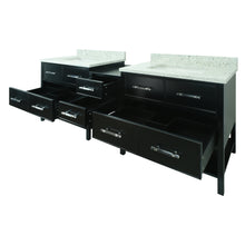 "Load image into Gallery viewer, 74"" Black Gemma Vanity with Topaz Quartz"