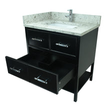"Load image into Gallery viewer, 30"" Black Gemma Vanity with Milky Way Quartz"