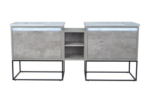 Casey Vanities Double Sink with Middle Cabinet