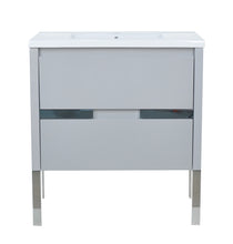 "Load image into Gallery viewer, 32"" David Parisian Grey Vanity"
