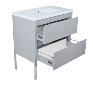 "32"" David Parisian Grey Vanity"