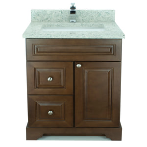 "24"" Royalwood Damian Vanity with Topaz Quartz"