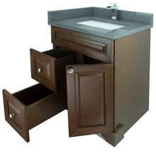 "Load image into Gallery viewer, 24"" Royalwood Damian Vanity with Crystal Grey Quartz"
