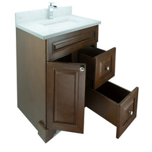 "Load image into Gallery viewer, 24"" Royalwood Damian Vanity with Carrera Quartz"
