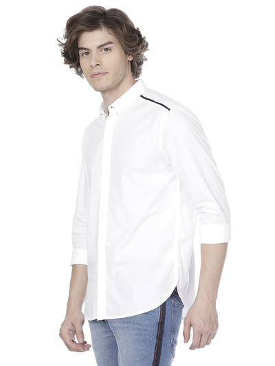 White shirt with shoulder detail - Voi Jeans Pant Online