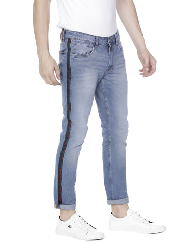 Blue mid-wash skinny Jeans Pant - Voi Jeans Pant Online