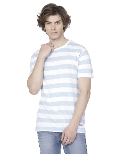 White blue sailor stripe t-shirt - Voi Jeans Pant Online