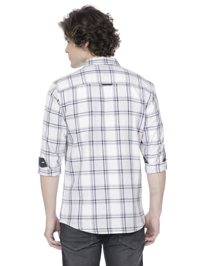 White checkered shirt - Voi Jeans Pant Online