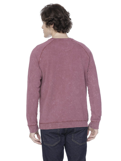 Maroon washed sweatshirt - Voi Jeans Pant Online