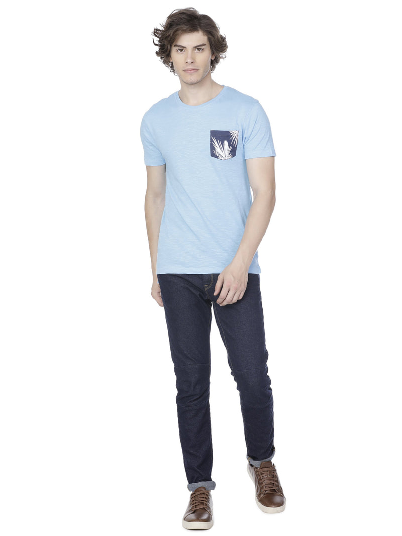 Sea blue t-shirt - Voi Jeans Pant Online
