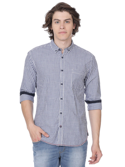 Blue multi checkered shirt - Voi Jeans Pant Online