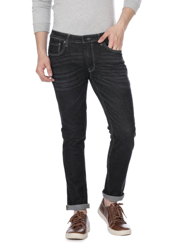 Black denim with whiskers - Voi Jeans Pant Online