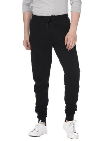 Cut and sew black track pants - Voi Jeans Pant Online