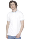 White t-shirt with rib collar - Voi Jeans Pant Online