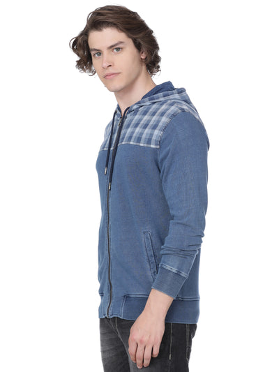 Denim sweatshirt with shoulder detailing - Voi Jeans Pant Online