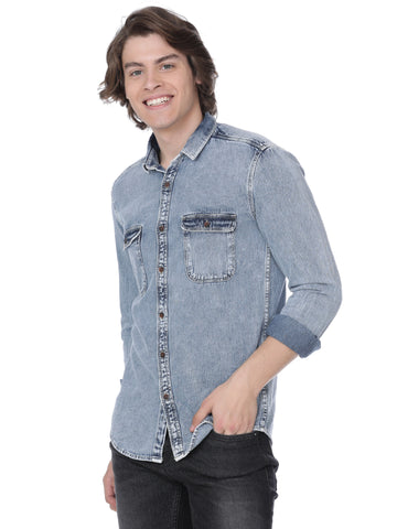 Light blue denim shirt - Voi Jeans Pant Online
