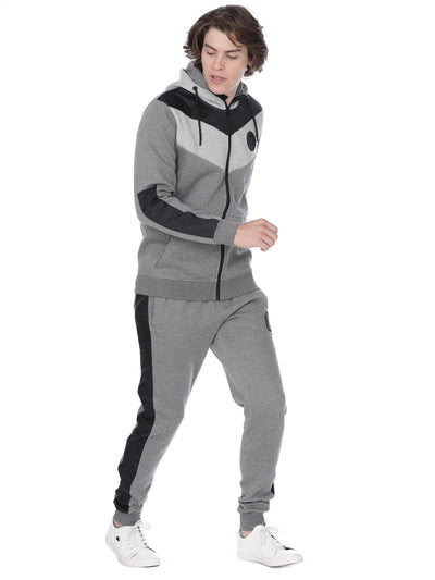 Grey with black accent sweat shirt - Voi Jeans Pant Online