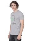 Grey t-shirt with print herb line - Voi Jeans Pant Online