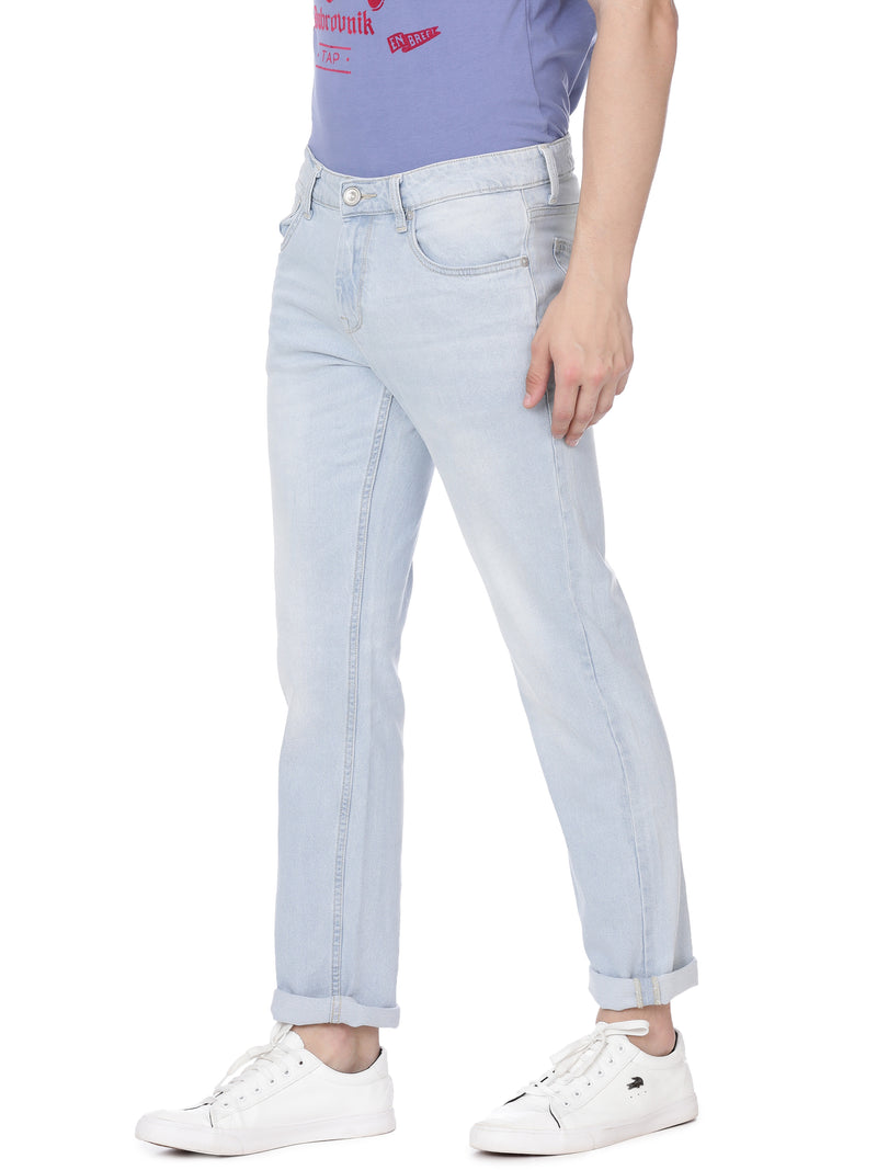 Mid blue borris fit denim - Voi Jeans Pant Online