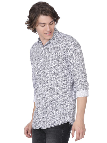 Black and white printed shirt - Voi Jeans Pant Online