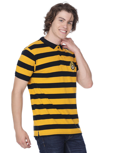 Black and yellow hoops t-shirt - Voi Jeans Pant Online