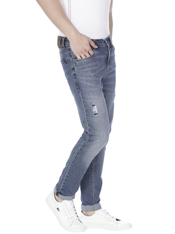Stretchable blue denim - Voi Jeans Pant Online