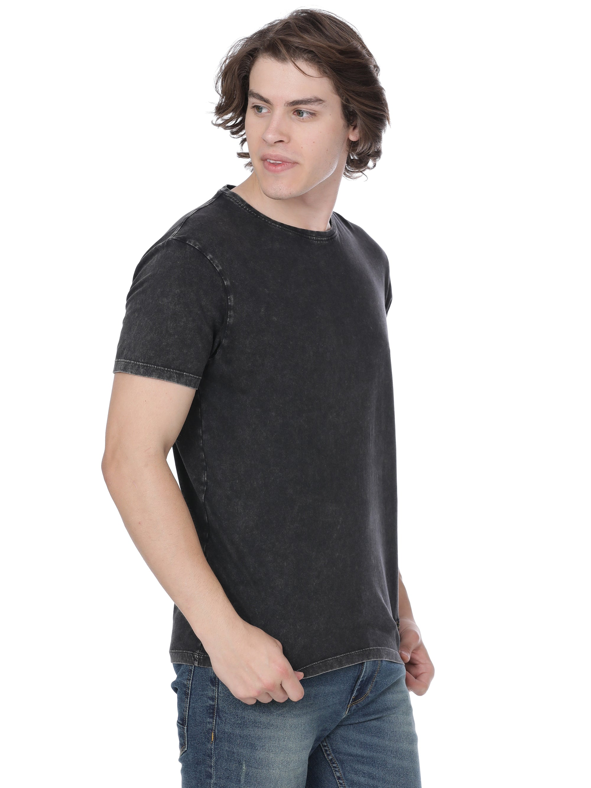 Black t-shirt with back print - Voi Jeans Pant Online