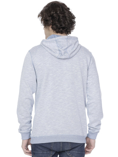 Sky blue high-neck hoodie - Voi Jeans Pant Online