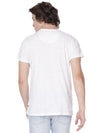 White with pocket print t-shirt - Voi Jeans Pant Online