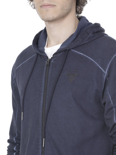 Washed navy blue hoodie - Voi Jeans Pant Online