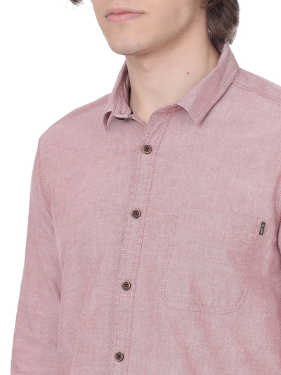 Solid pink shirt - Voi Jeans Pant Online