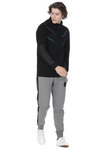 Black sweat shirt with ice blue accent - Voi Jeans Pant Online
