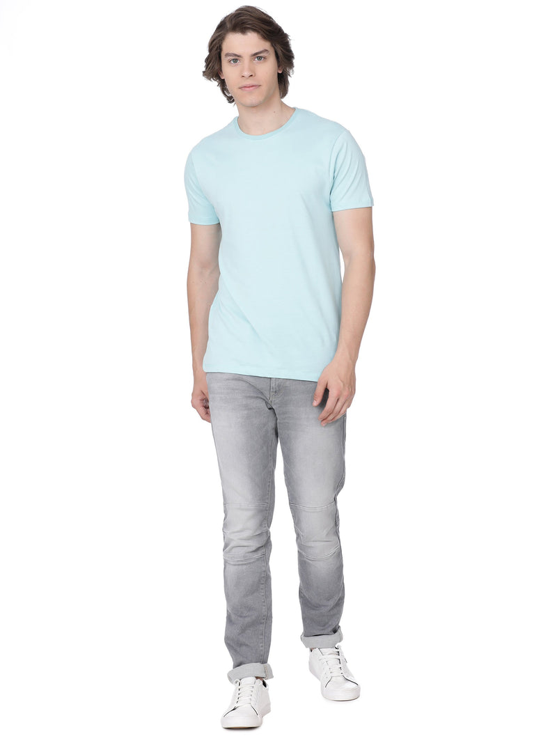 Light blue t-shirt with print - Voi Jeans Pant Online