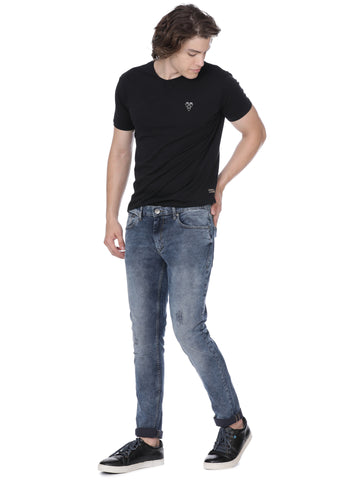Light blue denim with knee detailing - Voi Jeans Pant Online