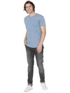Blue t-shirt with pocket print - Voi Jeans Pant Online