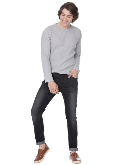 Black denim with whiskers light wash - Voi Jeans Pant Online