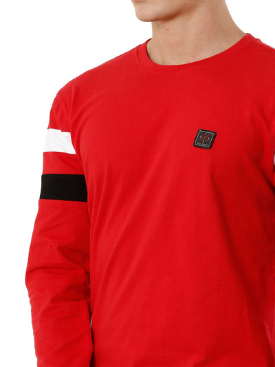 Red Cut & Sew T-shirt, Men's T-shirt, T-shirt