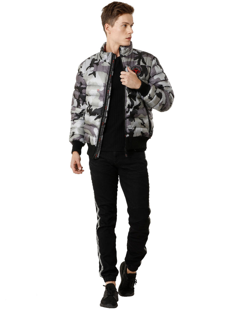 White Camouflage Poly-Puffer Men's Jacket - VOI x CANADA