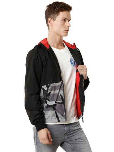 White Camouflage Cut and Sew Men's Jacket - VOI x CANADA