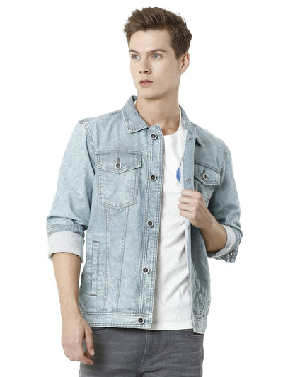 Light Blue Denim Trucker Men's Jacket